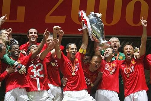 Manchester United campione d'Europa per la terza volta. Afp