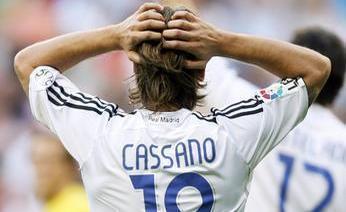 Antonio Cassano e il Real Madrid: un matrimonio da mani nei capelli. Afp