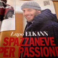Lapo Elkann Spazzaneve per passione