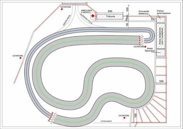 Il layout del tracciato di Verona