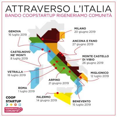 cartina dell'italia bando