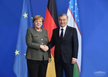 Mirziyoyev-Merkel photo