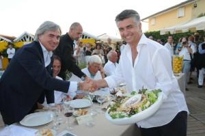 2009 - L'attuale sindaco di Pietrasanta Massimo Mallegni con il sindaco di Forte dei Marmi Umberto Buratti