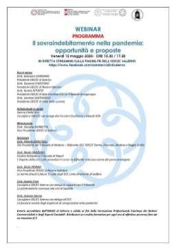 webinar 15 05 2020 Commercialisti Salerno su Sovraindebitamento