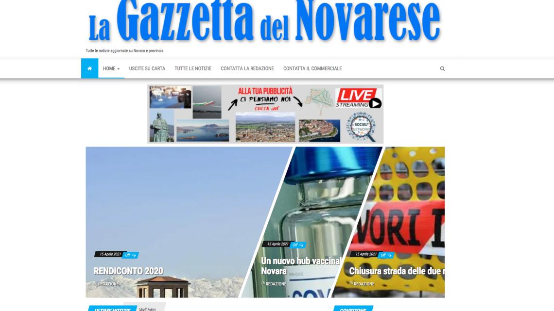 La Gazzetta del Novarese Online si rinnova: più servizi e informazioni
