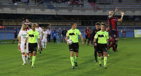 1718 play off samb piacenza ingresso in campo