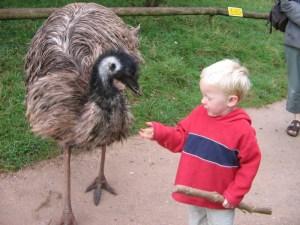 Jesse & an emu