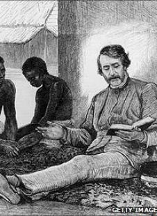 David Livingstone sharing the Bible