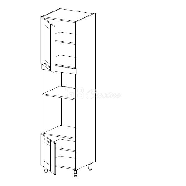 bianco alaska meuble colonne four micro