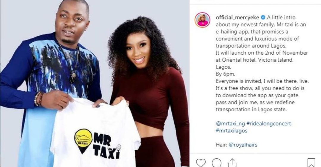 Mercy Ike signs endorsement with Mr Taxi as the clout chasing drama with Tacha continues