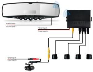 Car Rearview Mirror Monitor FM Wireless IR Reversing