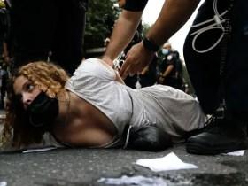 Police arrest Crowd of Black Lives Matter protesters gather at Met Gala
