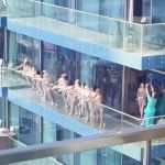 Women arrested after stripping naked to pose on balcony in Dubai