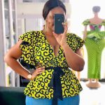 10 Ankara style to wear on Jean trousers