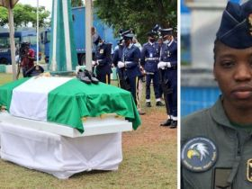 TOLULOPE AROTILE: NAF LAYS BODYTO REST AT NATIONAL MILITARY CEMETERY (NMC) ABUJA