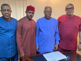 Anambra Stakeholder Engr Emeka Eze Receives Dr Maduka And Team, Assures Of Support