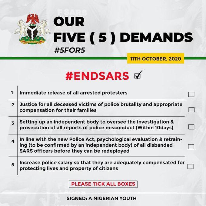 Presidential Panel Approves 5for5 Demands By Nigerian Youths