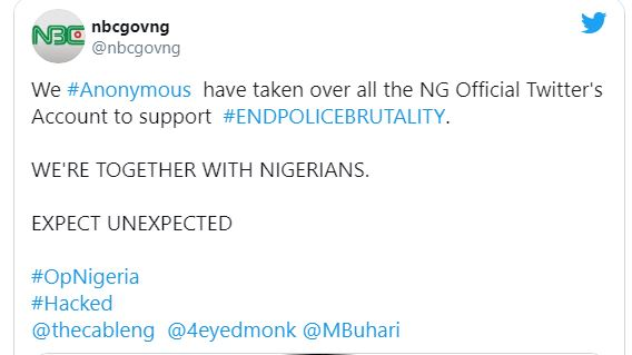 Anonymous to 'Play' Nigeria Govt. Websites after hacking NBC Twitter Handle
