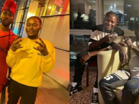 Damibliz hangs out with ibddende and Kelechi Iheanacho