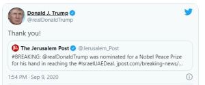 Donald Trump, nominated for Nobel Peace Prize