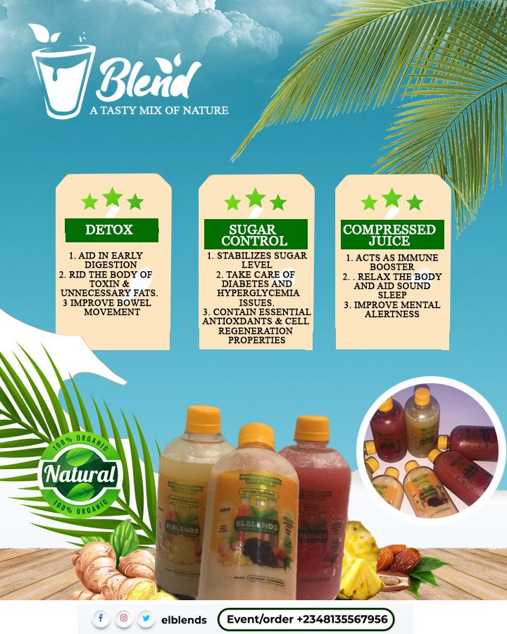 El Blends - Drinks for Detoxification, Blood Sugar Control and Juice