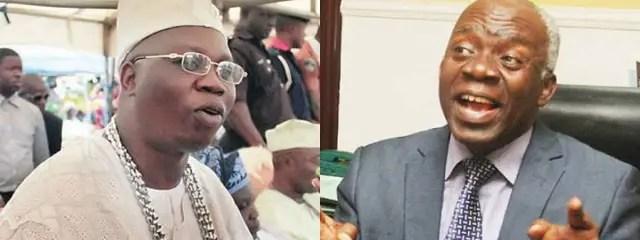 Chief Gani Adams, Femi Falana lock horns over Igboho's actions