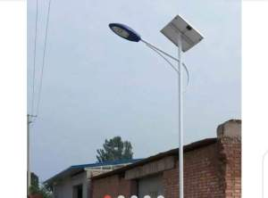Obidigwe builds 150W led solar street light for Umuoba Anam