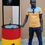 Jude Osei: UN calls inventor of solar-powered hand-washing machine