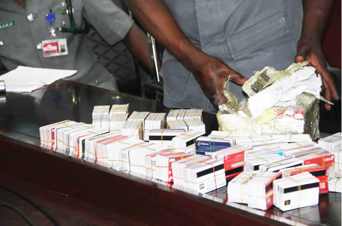 Customs Intercepts Dubai-Bound Passenger With 2,886 ATM Cards