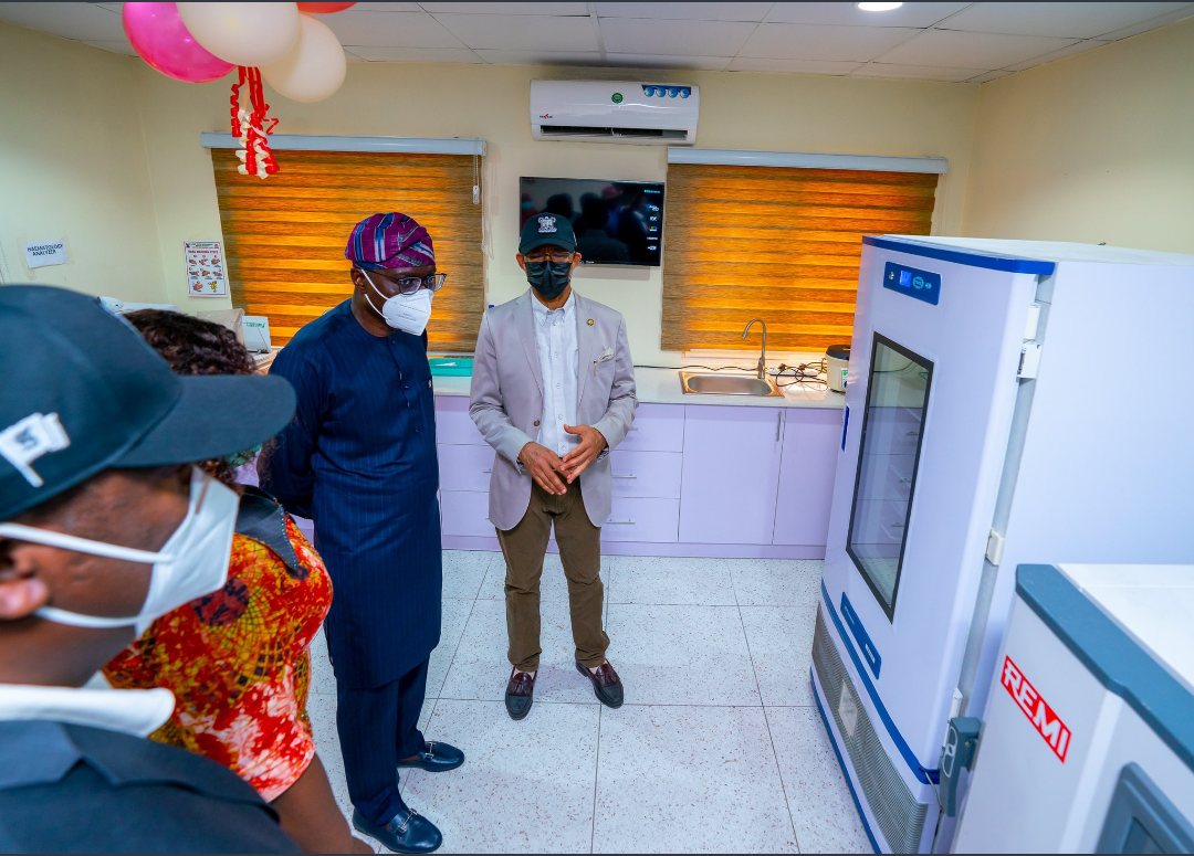 Sanwo-Olu commissions Oxygen Plant and Blood Transfusion office