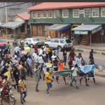 June 12th Protest: Youths storm Akure with full force