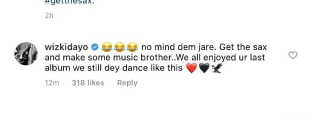 Wizkid replies Seun Kuti cover Grammy Award