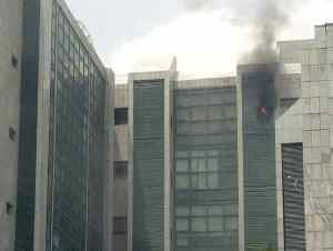 Corporate Affairs Commission headquarter on fire in Abuja