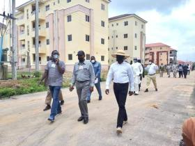 ASHAFA INSPECTS FHA HOUSING PROJECTS IN ABUJA (Photos)