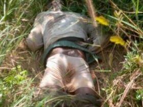 Akatsi policemen found farmer's dead body on farmland