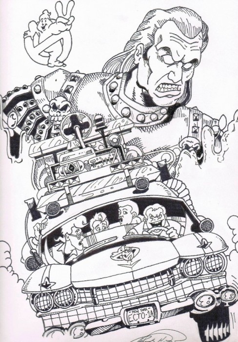 Ghostbusters Drawings Books