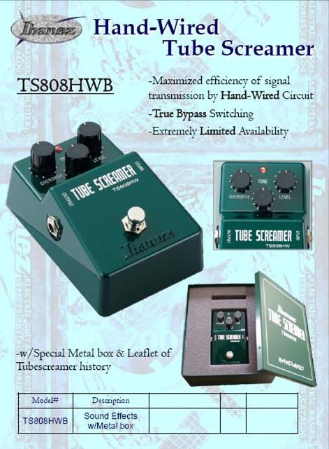 Ibanez Ts 808 Handwired