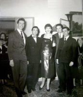 Da sinistra Antonio Zerbini, Augusto Pedroni, Maria Callas, Rolando Panerai e il Maestro Salvatore Papaccio