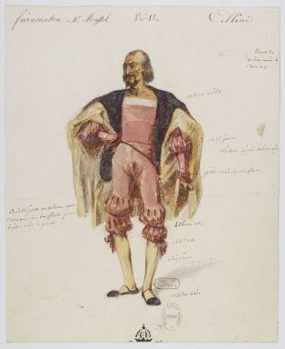 Costume di Fieramosca disegnato da Paul Lormier per la prima