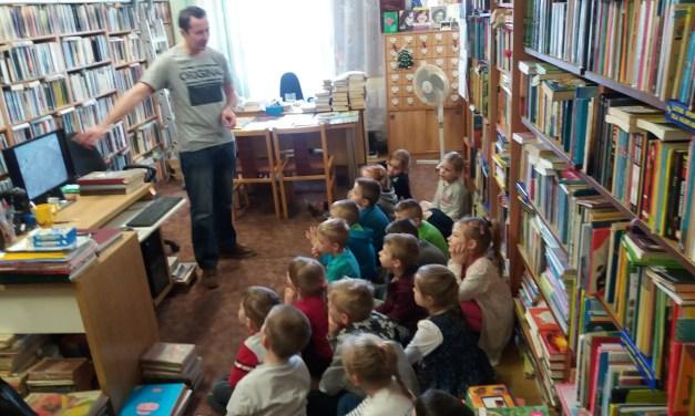 Odwiedziny przedszkolaków  w Gminnej Bibliotece Publicznej w Mietkowie