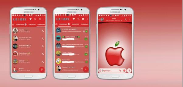 Tema GBWhatsapp – Red Apple 2