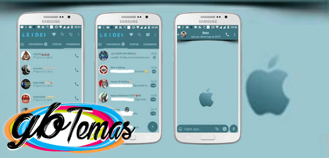 Tema GBWhatsapp – Apple 12