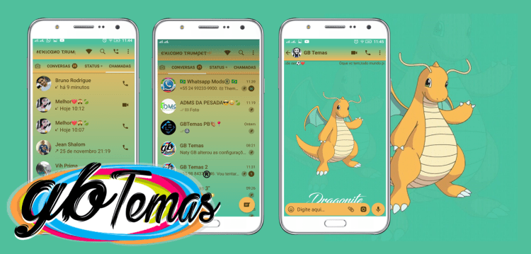 Tema GBWhatsapp - Dragonite
