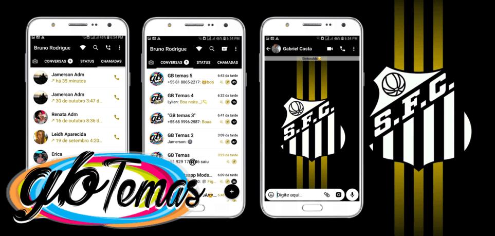 Tema GBWhatsapp - Santos Futebol Clube