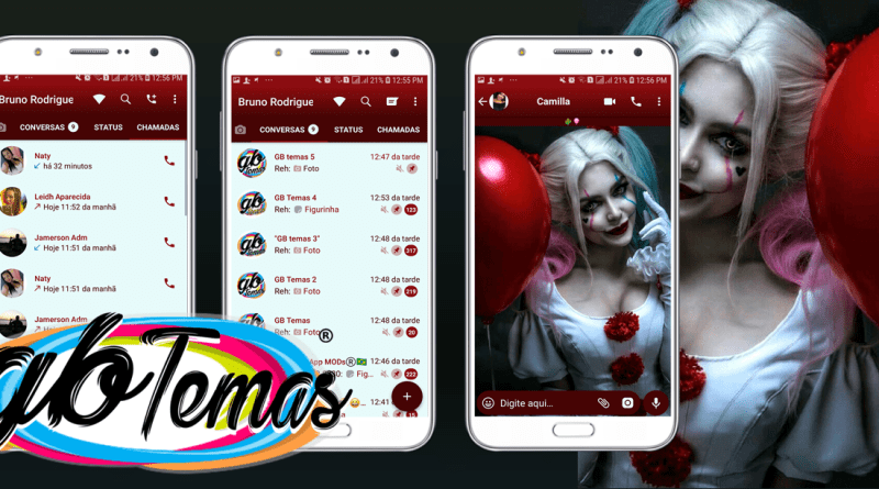 Tema GBWhatsapp - Harley Pennywise