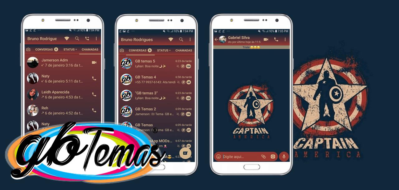 Tema GBWhatsapp - Captain America