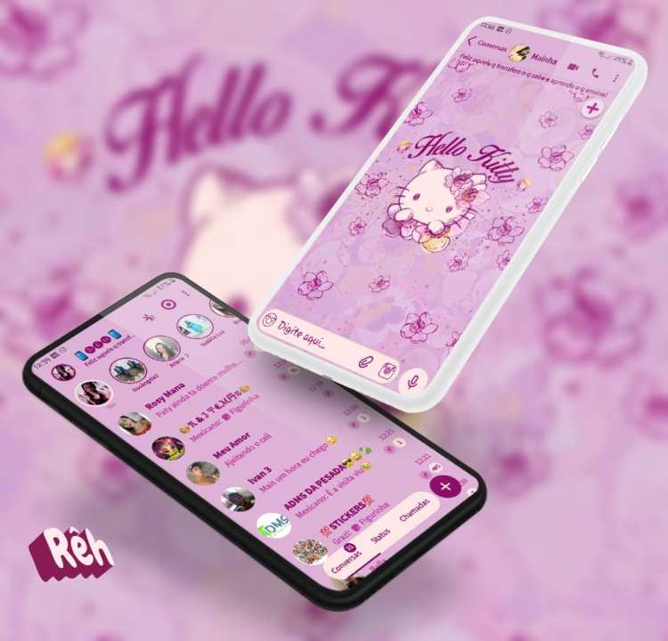Tema Whatsapp Aero - Hello Kitty 2