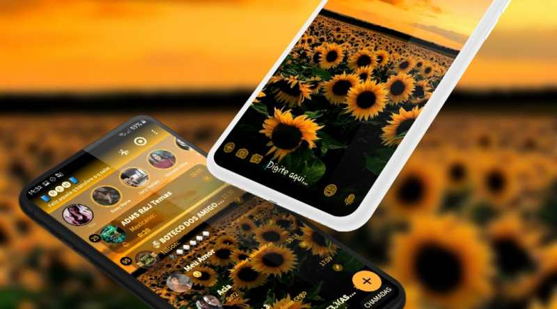 Tema Whatsapp Aero - Sunflower