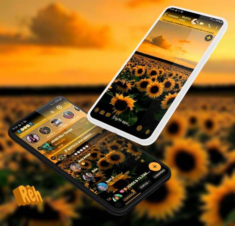 Tema Whatsapp Aero - Sunflower