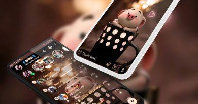 Tema Whatsapp Aero - Cute Piggy 2